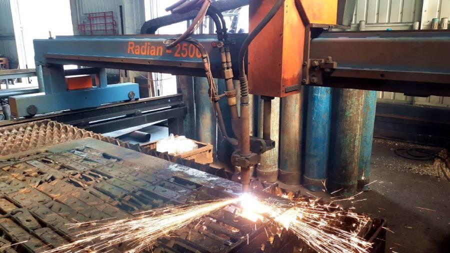 НПП Крамтехцентр Запущена машина плазменной резки металла